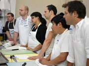 Students learn how to cut up a lamb at Ryan Farrs butcher class June 29 in San Francisco. Foodies are turning to butchery for a closer connection to their food.