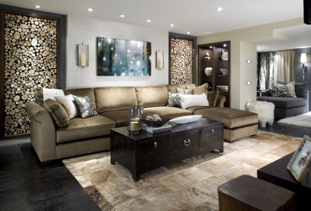 "room makeover by Candice Olson for her HGTV series, ""Divine Design"