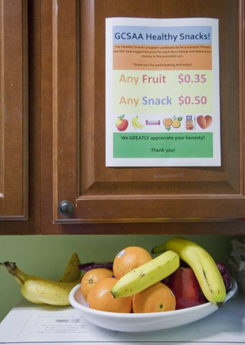 Fresh fruit is made available to employees at Golf Course Superintendents Association of America through its healthy snacks program. 