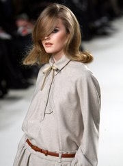 A model wears 2010 Chloe by British fashion designer Hannah MacGibbon.
