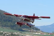 An aircraft with tail number N455A leaves Vernon, British Columbia, headed to Alaska in this April 29, 2005, photo released by John Olafson. The National Transportation Safety Board reports that about 8 p.m. Alaska Daylight Time on Monday a DeHavilland DHC-3T with tail number N455A crashed 10 miles northwest of Aleknagik, Alaska.