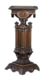 Herter Brothers made this 41-inch rosewood pedestal. It sold at a Cottone auction in Geneseo, N.Y., for $5,500.