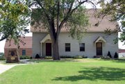 The St. John Brethren congregation church, built in the late 1800s, is shown in the south-central Kansas town of St. John. The site is where colony leader William Bickerton staked the first church of Zion Valley, which became St. John.