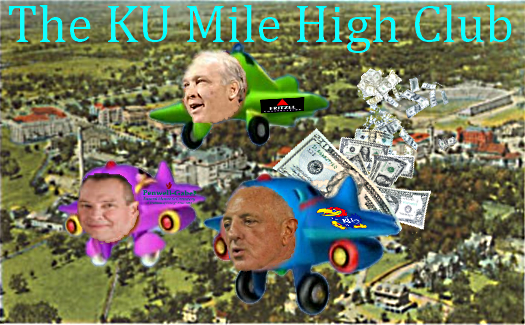 Exclusive membership in Kansas University Athletic Department's Mile High Club is limited to mile high donors and recipients.