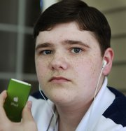 Matthew Brady, 17, of Foxborough, Mass., has mild hearing loss, after listening to his iPod with the volume turned up.