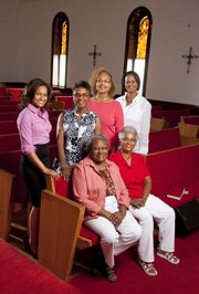 Pictured are organizers of the Wise Women Build Conference. Sitting front row, from left, are Margaret Johnson and Daphne Payne. In back row, from left, are Monica Green, Charlene Haines, Cynthia Eubanks and Cynthia Jackson. The three-day conference, which begins Friday, is hosted by the Ninth Street Missionary Baptist Church. It will include fellowship, worship, speakers and a prayer breakfast, and is designed as a spiritual retreat for women.