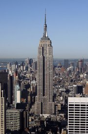The Empire State Building is seen in New York In this May 29, 2008, file photo. The New York City Council is considering a proposal for a nearby glass office tower that would rise almost as high as the iconic 79-year-old structure.