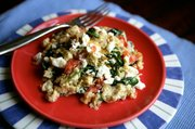 Feta and Spinach Scramble