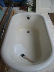 Tile resurfacing paints provide a durable, porcelain-like finish that can make your old bathtub look like new again.