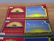 "Sample tickets for the Kansas Lottery&squot;s new ""Celebrating Our Statehood Game,"" are shown Friday in Topeka."