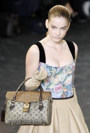 Floral bustier by Marc Jacobs for Louis Vuitton, fall-winter 2010-2011.