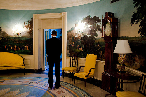 Pres. Obama in the White House