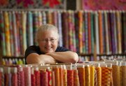 Sarah Fayman, owner of Sarah's Fabrics since 1973, couldn't think of another name for her store, 925 Mass., so she settled on her own.