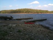 An underwater search team discovered a body at Boat Ramp No. 1 about 175 feet offshore at Clinton Lake Tuesday afternoon.