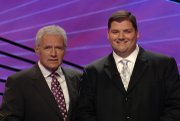 Alex Trebek and DJ Schepker