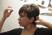 Stylist Kyra Rouser with Sizzors, 600 Lawrence Ave., sports a hairstyle similar to singer Rihanna.