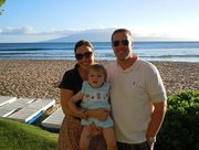 Gavin Smith with his wife Melissa with their son Liam. Smith's body was found by one of his hiking companions Tuesday, Sept. 28, 2010 at the Grand Canyon. Smith was the owner of Fatso's, 1016 Mass.