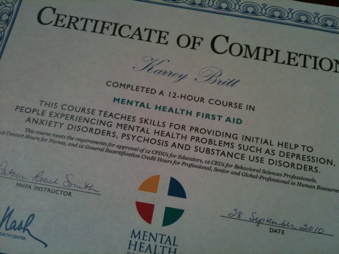Mental Health First Aid course ends with familiar topic: eating ...