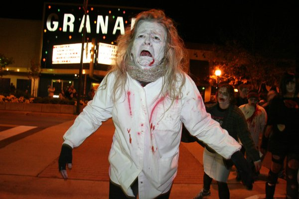 Scenes from the 2008 Lawrence Zombie Walk.