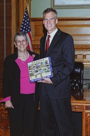Gov. Mark Parkinson was among the first recipients of the Kansas puzzle.