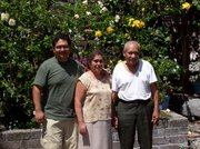 While Rev. Teske was in Cuernavaca, he was hosted by the Guerrero family, Pedro, left, Reyna and Victor Guerrero.