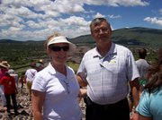 The Rev. Teske and his wife, Linda, on the summit of the Pyramid of the Sun in Teotihuacan, north of Mexico City. His wife joined him for the first week of his stay in Mexico.