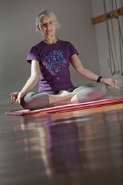 Jill Krebs is co-director of Yoga Center of Lawrence, 920 Mass.