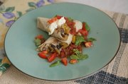 Savory butternut squash & Black bean burritos