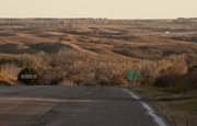 The sand hills near Mills in north central Nebraska, through which the Keystone XL pipeline is planned to be built, is shown earlier this month. TransCanada Corp.'s second pipeline, the $7 billion Keystone XL, is planned to carry crude oil from tar sands near Hardisty, Alberta, to the Gulf Coast. The project is now delayed indefinitely, with little official explanation.