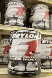 Epoxy paint will give garage floors a finished look.