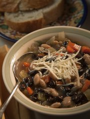 Easy Tuscan soup made by  Harriet House.