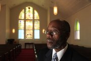 "The Rev. Verdell Taylor of St. Luke AME Church talks about the recent restoration of the historic church at Ninth and New York streets. ""We wanted it to look as it looked when people first built the church (in 1910),"" he said."