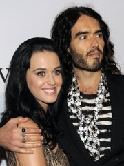 Katy Perry and Russell Brand arrive at the annual Pre-GRAMMY Gala presented by The Recording Academy and Clive Davis on Jan. 30 at The Beverly Hilton Hotel in Beverly Hills, Calif. Brand and Perry were married Saturday at a luxury resort in a tiger reserve in northwestern India, an official said.