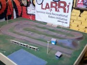 A model of a proposed BMX track that a Lawrence group would like to build on a three to five acre site in the city.