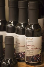 Elderberry juice concentrate is popular with customers at Community Mercantile, 901 Iowa.