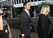 Dr. Sandeep Kapoor leaves court after he was acquitted on all charges in the Anna Nicole Smith drug conspiracy trial Thursday in Los Angeles.