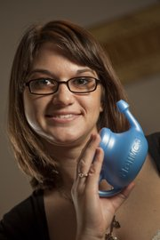 Kansas law student Kara Harms has been using a neti pot for about six months.