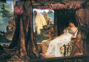 "The painting Antony and Cleopatra, by Sir Lawrence Alma Tadema, was used as source material for D.W. Griffith's 1934 film ""Cleopatra."""
