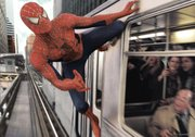 "Spidy goes the train route in ""Spider-Man 2."""