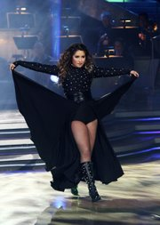 "Bristol Palin performs during the celebrity dance competition series, ""Dancing with the Stars"" on Monday in Los Angeles in this publicity image released by ABC. Her dance on the show enraged a Wisconsin man to the point where he shot his TV."
