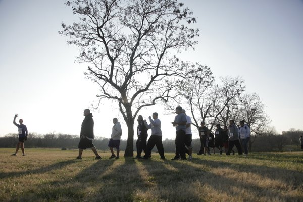 About 85 people participated in a 5K run/walk Thursday, Nov. 18, 2010, at Haskell Indian Nations University.