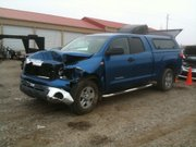 This blue Toyota Tundra was stolen from a USA Today delivery driver on the Kansas University campus on Tuesday, Nov. 23, 2010. The truck was then involved in a fatality crash on U.S. 59 north of Lawrence that same morning.
