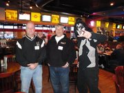 Free State High football coach Bob Lisher and LHS football coach Dirk Wedd at last year's Turn it On! event.