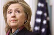 Secretary of State Hillary Rodham Clinton makes a statement on the WikiLeaks document release on Monday in Washington.