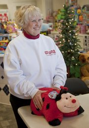 Mary Jones, coordinator of the Douglas County Toys for Tots, is hoping Lawrence residents will be generous in donating toys. The program is collecting toys to distribute to local children who might not have gifts this holiday season.