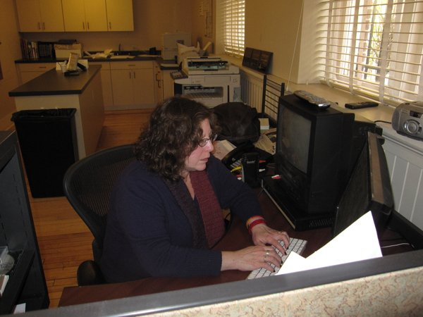 Marcia Epstein, director of Headquarters Counseling Center, participates in an online chat Monday, Dec. 7, 2010, at The News Center, 645 N.H.