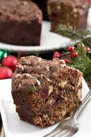 """This chocolate fruitcake comes from a recipe created by Marie Rudisill, author of """"Fruitcake"""" and aunt to famed Southern writer Truman Capote."""