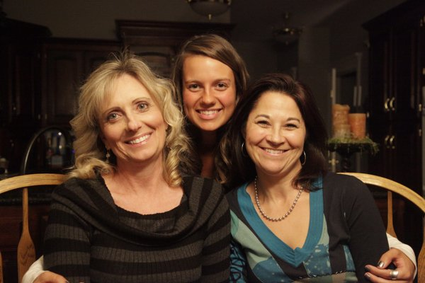From left are Gina Vervynck, and her daughter Amanda Vervynck, and Angie Rexroad, all of Lawrence. The three are close friends of Kim Banning-Bohmann, who has scleroderma. They have organized a couple of fundraisers to help pay for Kim&#39;s medical and living expenses while in Chicago. She plans to have a stem cell transplant at Northwestern Memorial Hospital. The process from testing to recovery is expected to take from late January to mid-March. The trio were pictured Friday, Nov. 19, 2010, at Kim&#39;s home.