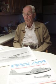 Jack Lefty Leftwich, 93, of McLouth, recalls the days he flew a sea plane during World War II, and how he navigated by the stars. Leftwich has been flying for some 70 years as he flew in WWII and for Pan Am.