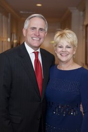 KU capital campaign chair-people Kurt and Sue Watson, of Andover.